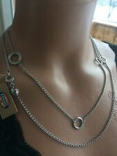 ᑕ❶ᑐ  FOSSIL Damen Kette 100cm Halskette Edelstahl Anhänger Charm JF00028 & Box