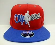Adidas NBA Los Angeles Clippers Script Logo 2 tone Snapback Hat Cap New