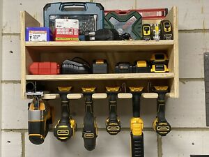 Custom Made 5 Tool Storage Station Rack Charging Point Battery Cordless Power