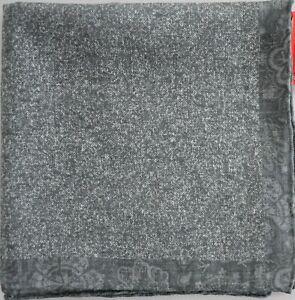 🆕️ NEW Auth ISAIA NAPOLI COTTON LINEN Pocket Square Pochette Handkerchief