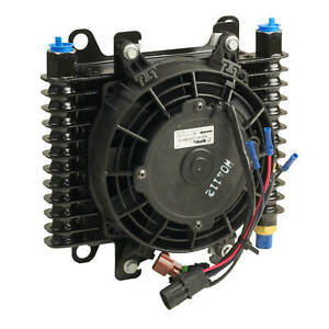 "B&M Hi-Tek Transmission Supercooler With 7"" Diameter Fan 10"" x 7.5"" x 4"""