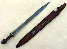 28 INCHES Damascus Knife Custom Handmade WALNUT WOOD HANDLE GLADIUS SWORD