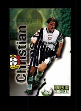 Christian Wörns  Bayer Leverkusen Panini Card 1997 Original Signiert+ A 158053