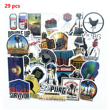 29pcs PUBG Stickers For Laptop Car Luggage Skateboard Graffiti Computer Bicycle