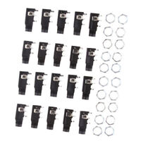 20 Pieces 4PIN 1/4inch 6.35mm Female Socket Mono Audio Jack PCB Panel Mount