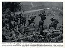 1915 Gorlice-Tarnow* Sappeure graben sich dicht an den Feind vor * antique print