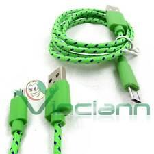Cavo dati Tessuto Nylon VERDE per LG V10 H960 cavetto USB carica e sincronizza