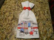 Mary Lake Thompson Flour Sack Towel - Patriotic Camper, Cat, Grill, Watermelon
