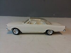 VINTAGE AMT 1965 FORD GALAXIE CONVERTIBLE W/CLEAR TOP BUILT MODEL CAR UNPAINTED
