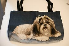 Womens Large Tote handbag with Dog photo on both sides. Pre- Owed