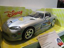 DODGE VIPER GTS silver GOOFY Walt Disney au 1/18 d BURAGO 2006 voiture miniature