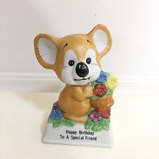 "Vintage Russ Berrie ""Happy Birthday to a Special Friend"" Porcelain Figurine #809"