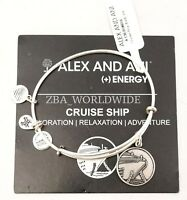 Alex And Ani Cruise Ship Gold Charm Bracelet Bangle EBay - Alex and ani cruise ship bangle