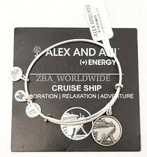 NEW Alex and Ani Cruise Ship Silver Charm Bracelet Bangle