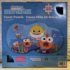 """New Baby Shark 25 piece Floor Foam Puzzle Mat Toddler Kids Girls Boys 13"""" x 24"""""""
