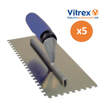 Vitrex Professional Adhesive Trowel 6mm Square Notch 5 Pack multi-buy