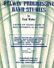 """BELWIN PROGRESSIVE BAND STUDIES"" MUSIC BOOK FOR BARITONE B.C.-BRAND NEW ON SALE"
