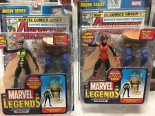 Lot X2 MARVEL LEGENDS WASP BAF MODOK Rare RED/BLACK AVENGERS Variant Figure