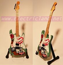 Mini Guitar Billie Joe Armstrong green day strato caster wood miniature chitarra