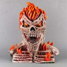 Ghost Rider Cosplay Masks Superhero Skull Flame Fire Man Creepy Full Head Latex