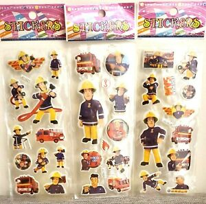 Fireman Sam Stickers Vinyl Loot Bag Birthday Party Stickers 10 sheets