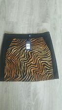 Ralph Lauren Polo Golf Skirt Tiger Print NWT Tan Stretch Cotton Size 8