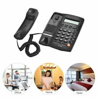 Landline Phone LCD Display Caller ID Volume Adjustable Calculator Alarm Clock