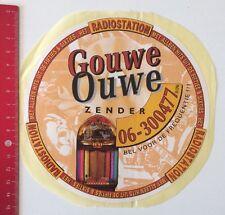Aufkleber/Sticker: Radiostation - Gouwe Ouwe Zender - De Frequentie (22051629)