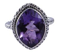 Brazil amethyst Gemstone Ring Size 7 Women Silver 925 Sterling silver jewelry