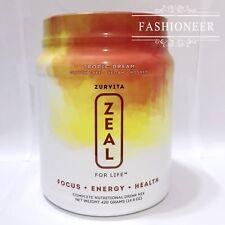 Zurvita ZEAL FOR LIFE - 30 Day Supply -Tropic Dream Vegan 14.8 oz 08/2019