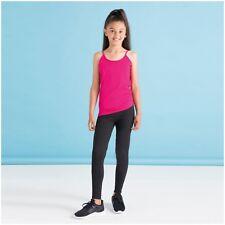 Kids Childrens Black Cotton Leggings Sport Dance Trousers Jogging Pants Bottoms