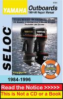 Yamaha Outboard Repair Service Shop Manual Download PDF 2-250HP V4&V6 1984-1996