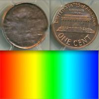 PCGS MS64 RED Brockage Capped Die █UNUSUAL ERROR█ ▶RARE Lincoln Memorial Cent 1C