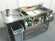 More details for modular cocktail station, insulated ice well & bar sink with hygienic bin void