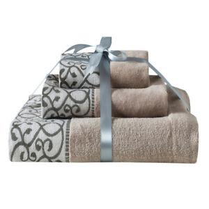 3Pcs Towel Set Hand Bath Face Towels Leopard Luxury 100% Pure Egyptian Cotton
