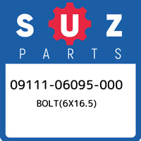 09111-06095-000 Suzuki Bolt(6x16.5) 0911106095000, New Genuine OEM Part