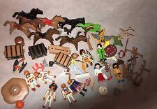 GRANDE selezione Bundle Classic PLAYMOBIL Cowboy & Indiano figure e accessori