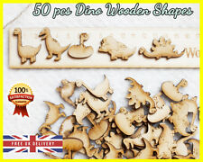 50 Wooden Dinosaurs shapes Craft Scrapbooking MDF Wood gift Card making Animal