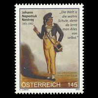 Austria 2012 - 150th Anniv of the Death of Johann Nepomuk Nestroy - Sc 2378 MNH
