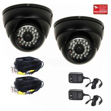 """2x Dome Security Camera with 1/3"""" SONY EFFIO CCD Wide Angle 28 IR LEDs CCTV WR2"""