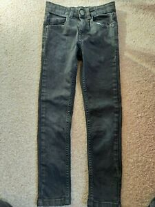 BOYS SIZE 6-7 YEARS BLACK SKINNY JEANS NEVER WORN GOOD CONDITION