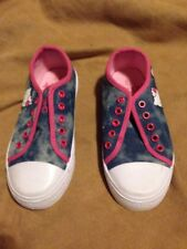 Hello Kitty Girls Blue Casual Shoes Size 12 Great Condition
