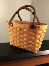 Longaberger Medium Boardwalk Basket with Leather Handles and Protective Liner