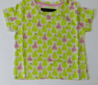 Girls top tshirt MINI BODEN  age 3 4 5 6 7 8 9 10 11 12 years pears NEW