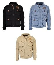 New Baby Boys Blue Cream Black Denim Jacket Coat Lined Age 6 12 18 24 Months 2 3