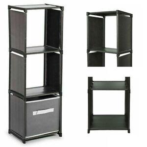 3 Tier Compartment Home Storage Shelf Plastic Organizer With Shelving Unit Handy