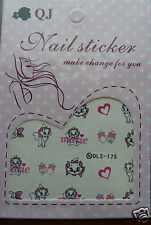 nail art stickers, Cute Cats,marie, water transfer stickers