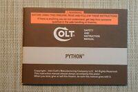 COLT Firearms Original Factory Python Manual 2003 Part No. 96071