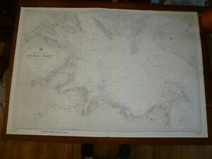 Vintage Large ADMIRALTY Naval Chart - KIEL BAY. ENTRANCE TO THE BALTIC c.1957.