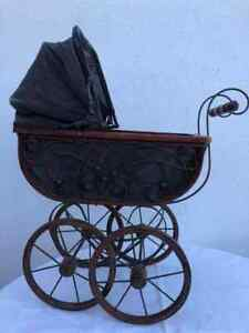 Vintage Antique Doll Carriage